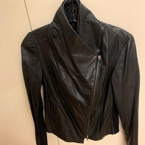 Vince Leather Jacket Women's XS Black